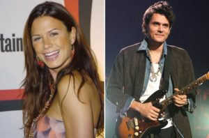 Rhona Mitra and John Mayer