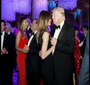 President Donald Trump at 2017 New Year Eve's Party