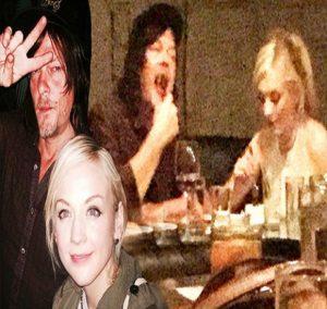 Emily Kinney & Norman Reedus dinner together