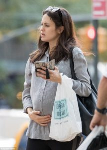 Pregnant Melanie Hamrick spotted in New York