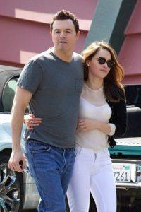 Emilia and her ex-boyfriend Seth MacFarlane