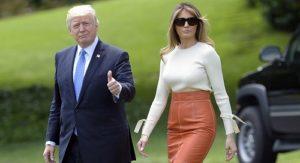 President Trump and his wife Melanie Trump