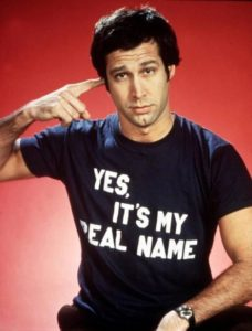 young Chevy Chase in T-shirt