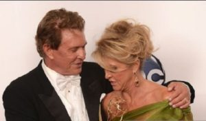 Tom Berenger and his current spouse Laura Moretti in Emmy Awards