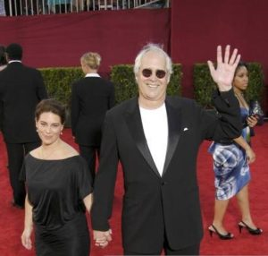 Chevy and his daughter Caley attend HBO Emmy