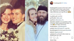 Husband and wife, Willie Robertson and Korie Robertson