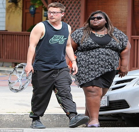 Gabourey Sidibe with Mysterious man