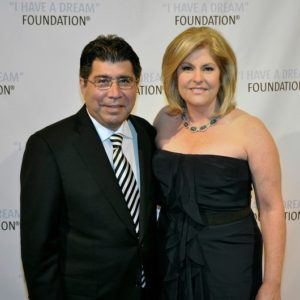 Reporter Sue Herera with husband Danial Herera attending an event