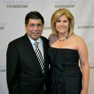 Reporter Sue Herera with husband Danial Herera attending an event