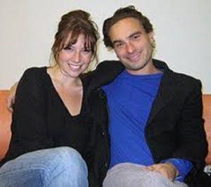 Ari Graynor with her ex-boyfriend Johnny Galecki