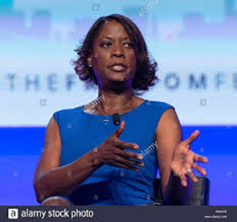 Black beauty Deneen Borelli during her work.