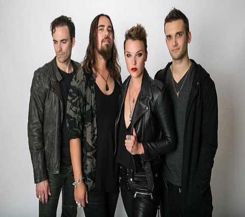 Lzzy Hale and her band HaleStorm