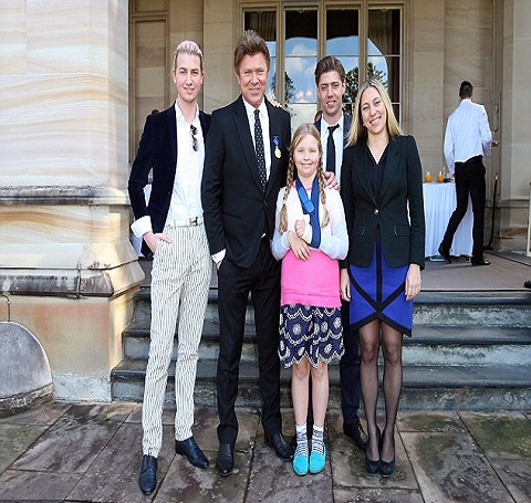 Richard Wilkins with his kids