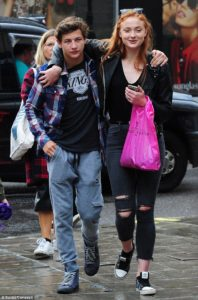 Tye Sheridan and Sophie Turner cozy during lunch date