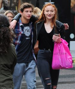 Tey Sheridan and his rumored girlfriend Sophie Turner seen together strolling down the Oxford Streets back in 2015.