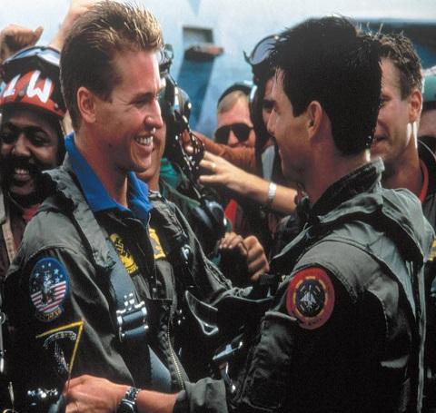 Val Kilmer and Tom Cruise