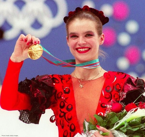 Katarina Witt during her gold-medal winning performance at the 1988 Winter Games in Calgary