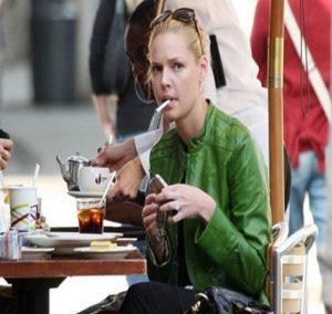 Katherine Heigl...Smoking