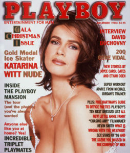 Katarina Witt on the cover of the famous magazine Playboy 12 years ago