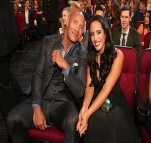 "Simone Johnson attends People Choice Award 'Function with her father "" The Rock Dwayne Johnson."