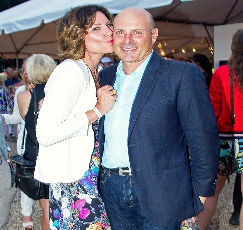 Luann de Lesseps and her ex-husband Tom D' Agostino pictured together.