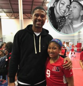 Jalen Rose and his daughter