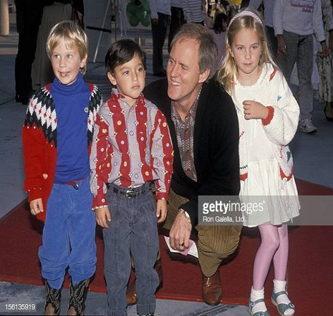 John Lithgow with his children