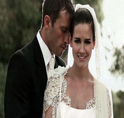 Kristy Gallacher's wedding
