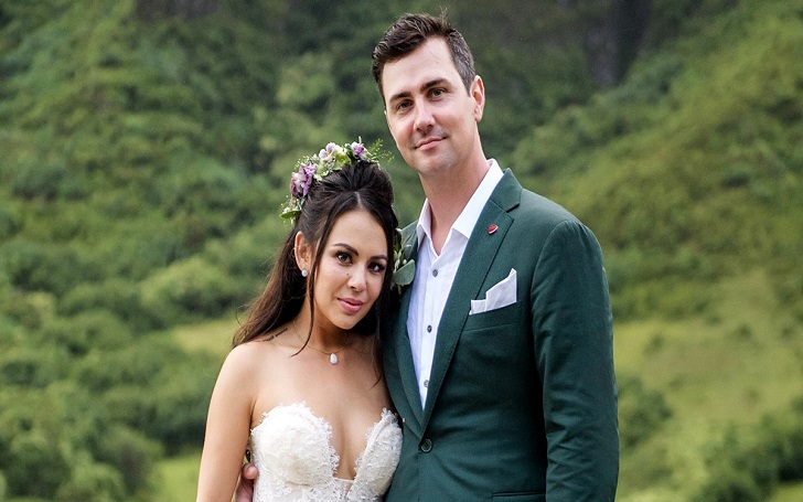 Janel Parrish and Chris Long wedding