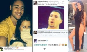Hannah Stocking and her former boyfriend, Klay Thompson