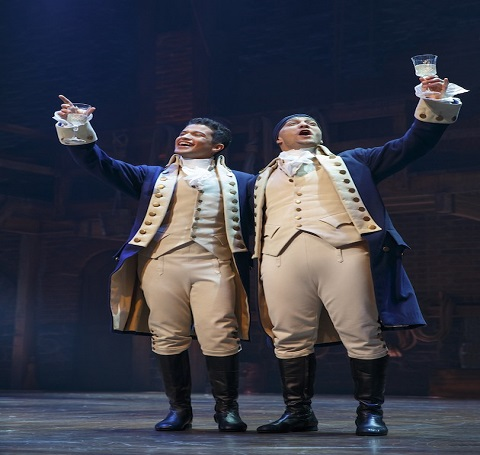 Jordan Fisher as John Laurens in Hamilton