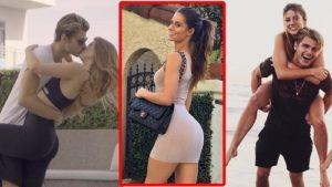 Model Hannah Stocking kisses her rumored boyfriend, Twan Kuyper, 16 May