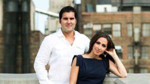 Lauren Simonetti and her husbandMark Cubrilo posing romantically for cameras