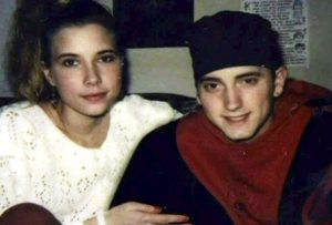 Former husband and wife, Eminem and Kimberly young age photo