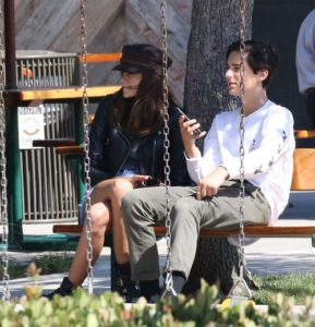 Kaia Gerber with her suspicious boyfriend having a day date in the park at Malibu