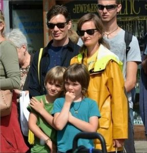 Yvonne Mcguinness and her spouse Cillian Murphy with their children