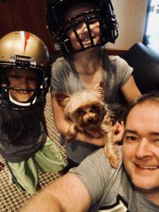 Josh Heupel and his children