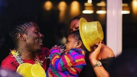Shatta Wale and Shatta Michy with their child
