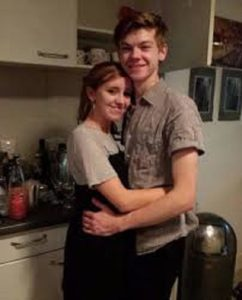 Thomas Sangster with his girlfriend, Isabella Melling