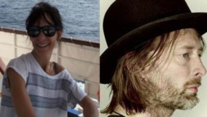 Thom Yorke with his former partner, Dr. Rachel Owen who died at the age of 48 on 18th December.