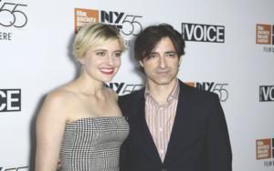 Greta Gerwig with her boyfriend, Noah Baumbach at an event.
