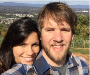 Leyla Santiago with her husband, Zac Gooch