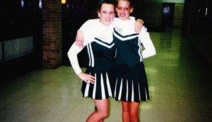 Nicole Curtis' teenage photo with her friend