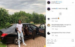 Swae Lee spotted with Mecedez Benz
