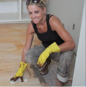 Nicole Curtis renovating her kitchen