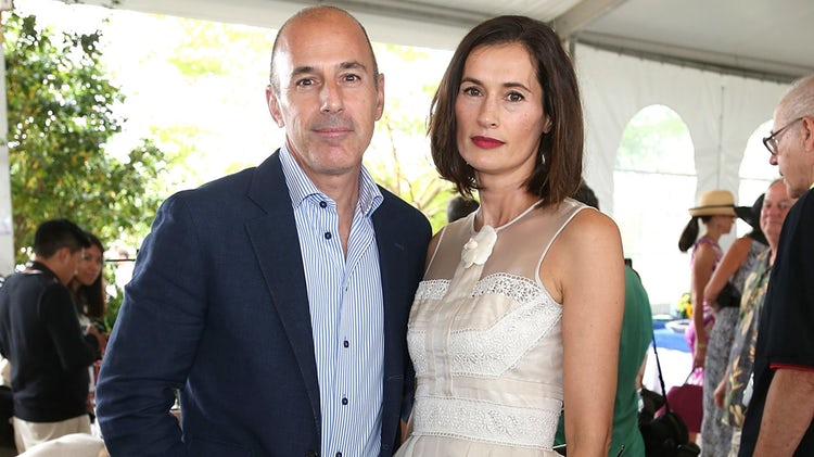 Matt Lauer with his wife, Annette Roque at an event together