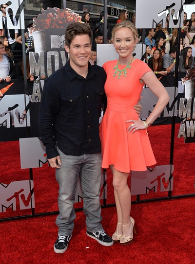 Kelley with her ex-boyfriend, Adam DeVine