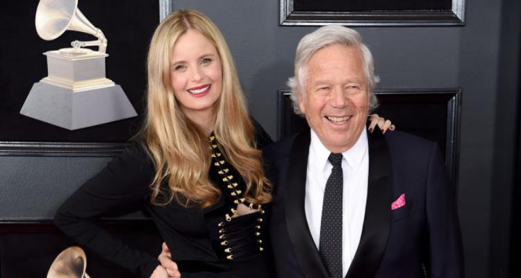 Ricki Lander with her billionaire boyfriend, Robert Kraft