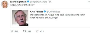 Laura Ingraham recent tweets