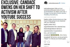 Candace Owens shifted to Activism after YouTube success